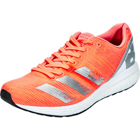 adidas Adizero Boston 8 Shoes Women, signal coral/silver metal/footwear white